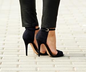 heels, Zara, and sandals zara black shoes image