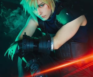 cloud, cloud strife, and cosplay image