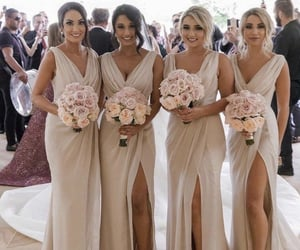 bouquet, bridesmaids, and dresses image