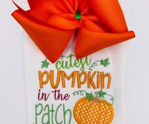pumpkin patch outfit, thanksgiving hairbow, and large hairbow image