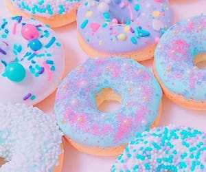 donuts, food, and lilac image