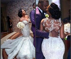 wedding gown, mermaid wedding dress, and vestido de novia image