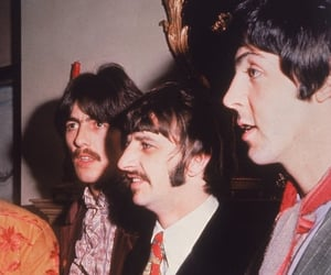 beatles, george harrison, and Paul McCartney image
