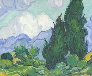 van gogh, art, and landscape image