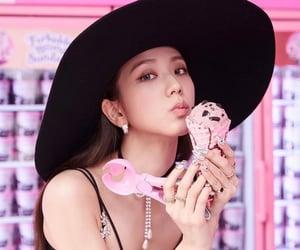 blackpink, jisoo, and ice cream image