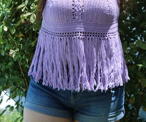 crochet, top, and 💜 image