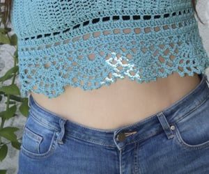 blue, crochet, and top image