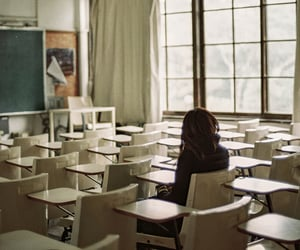 alone and school image