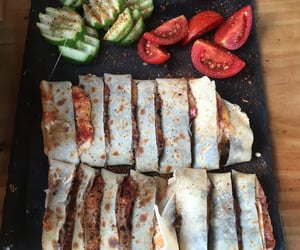breakfast, cucumber, and meat image