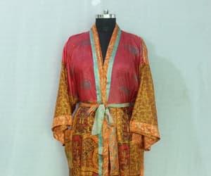 floral kimono, ethnic night wear, and hippy kimono image