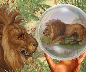 cartoons, fantasy, and lions image