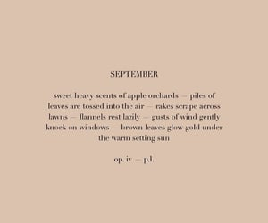 quote, September, and autumn image