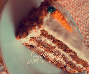 aesthetic, carrot cake, and cheese image