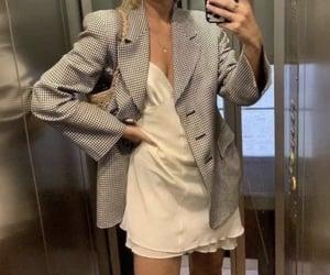 fashion, dress, and blazer image
