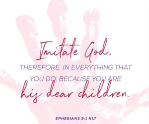children, bible verse, and handprint image