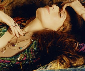 beauty, red hair, and florence and the machine image