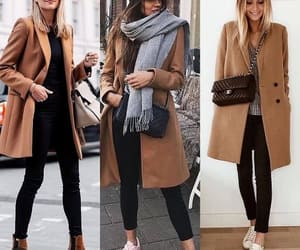 ankle boots and trench coat image