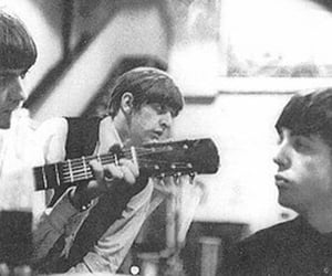 ringo starr, the beatles, and b&w image