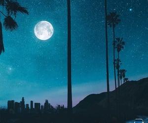 beautifull, moon, and nature image