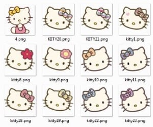 header, archive, and hello kitty image