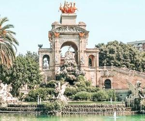 adventure, Barcelona, and fountain image