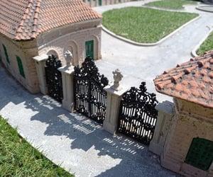 gate, maquette, and castle image