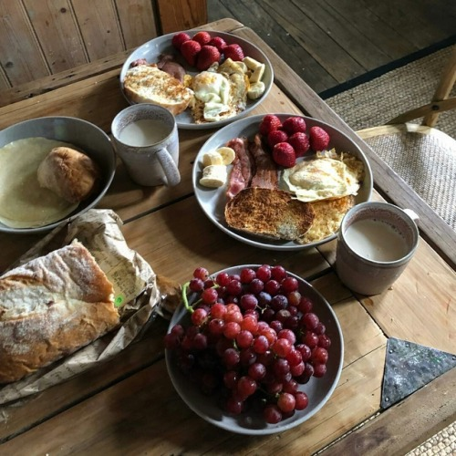 breakfast, food, and grapes image