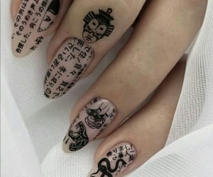 nails, aesthetic, and japanese image