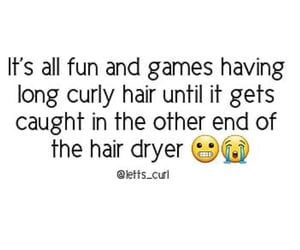 curls, funny, and long hair image