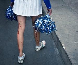 cheerleader, blood, and high school image