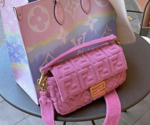 fendi, Louis Vuitton, and pink image