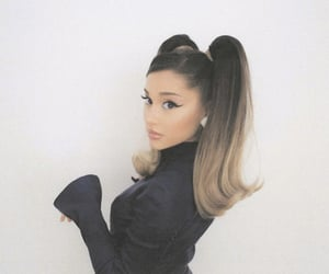 beauty, ponytails, and ariana grande image
