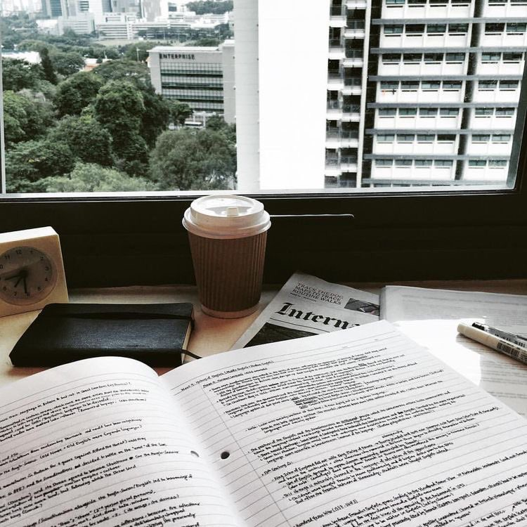 study, college, and coffee image