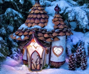 cottage, enchanted, and Fairies image