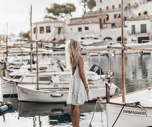 blogger, boats, and fashion image