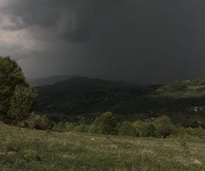 nature, mountains, and rain image