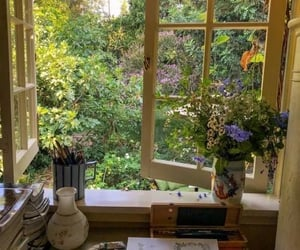 aesthetic, garden, and cottagecore image