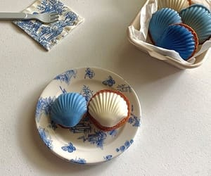 aesthetic, blue, and food image