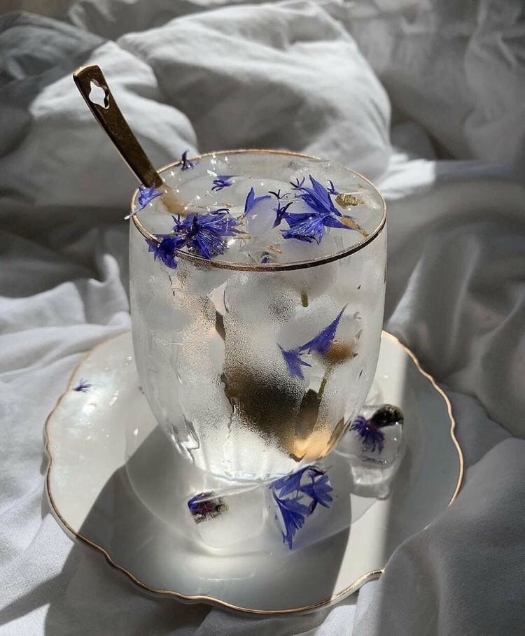 Image de drink, flowers, and cold