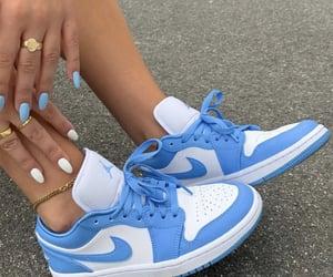 blue, nike, and fashion image