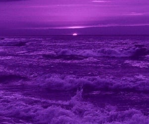 purple, aesthetic, and sea image