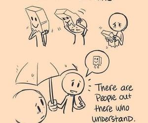 people, understanding, and rain image