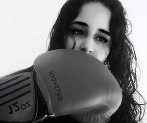 black and white, boxing, and curvy image