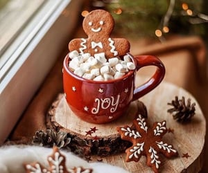 christmas, marshmallow, and winter image