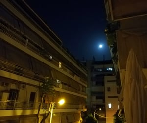 Athens, fullmoon, and balcony image