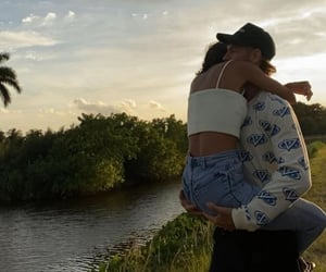couple, hug, and love image