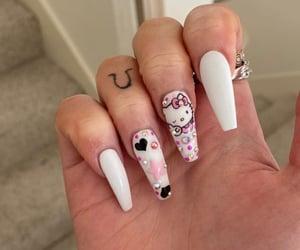 hello kitty, nail designs, and nails image