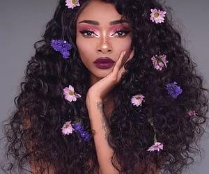 zendaya, girl, and flowers image