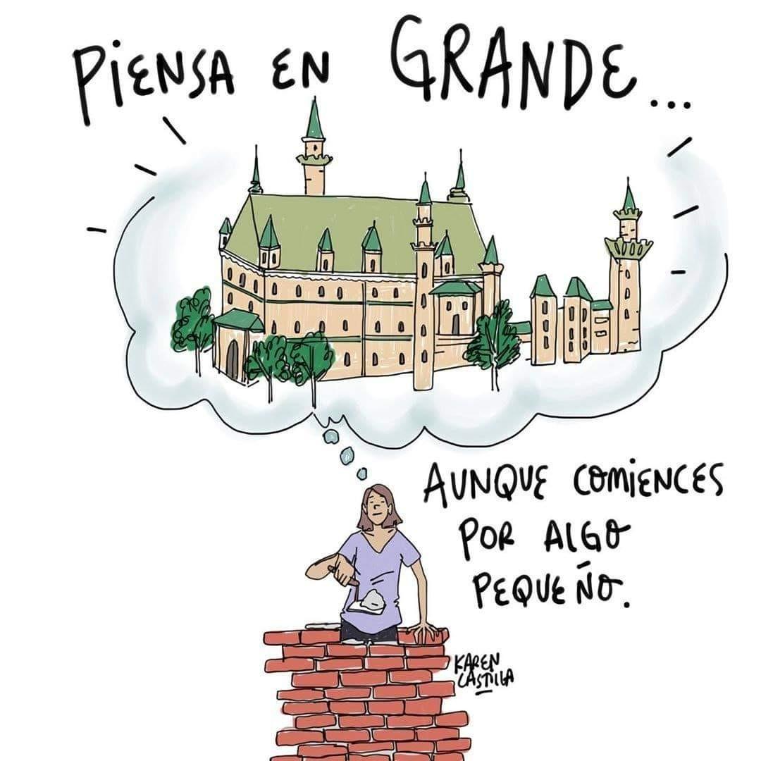 motivacion, frases en español, and pensar en grande image