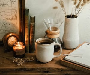 autumn, candles, and coffee image